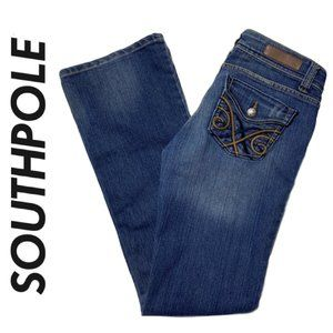 South Pole Distressed Jeans Embroidered Size 3